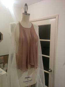Domenica makes feminine clothes in delicate fabrics.