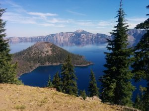 Crater Lake is stunning, outrageous, gorgeous, and other such wonderful things.
