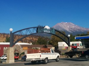 A beautiful view of Mt. Shasta as I gassed up in Weed, California on my way to Big Bend.