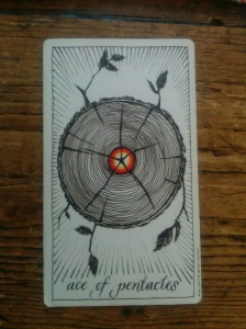 This pre-trip-reading tarot card addressed my future health - strong at the core with lots of healthy growth. Rootless wonder!