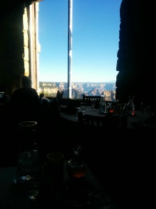 The view from the Grand Canyon dining room at the Lodge.