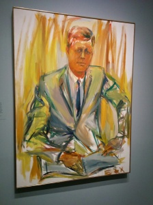 The Presidential Portrait Gallery is full of beautiful work. I love this portrait of John F. Kennedy by Elaine De Kooning.