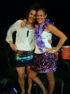 Me and Shan-Dee-Dandy at the Saturday night party. She created my outfit. Thank you, Shannon.