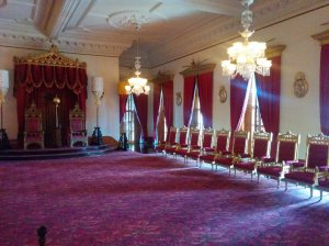 The Iolani Palace was one of the first structures in the world to have electricity and indoor plumbing throughout.