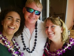 Me, Thomas, and Stacey just after we arrived at the Grand Wailea. There's a lot of love in this photo. I'm so grateful to them for hosting me.