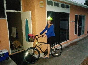 Me and my two wheels. I loved the feeling of biking in sandals near the ocean. Aaaah...