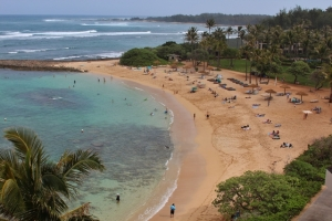 I borrowed this image of Turtle Bay from www.hawaiigolf.com.